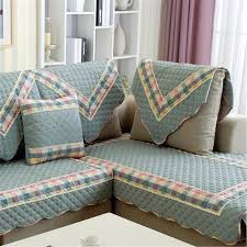 Pillow Back Sofa Slipcover by Modern Simple Style Cotton Printed Material Sofa Cover Back