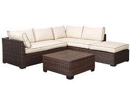 Star Furniture Outdoor Furniture by Star Furniture Loughran Beige Brown Sectional W Cocktail Ottoman