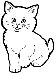 cat coloring pages small collection cute cat