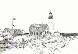 coloring pages lighthouse coloring
