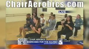 Armchair Aerobics Exercises Chair Aerobics Segment Number 1 On The Morning News Youtube
