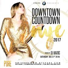 houston halloween party 2017 downtown countdown nye 2017 at pure 505 main sunday dec 31st