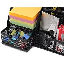 Desk Accessories And Organizers by Easypag Drawer Organizers Mesh Desk Organizer 6 Compartment Office
