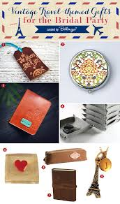 themed gifts vintage travel themed gift ideas for the bridal party unique