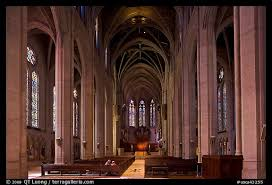 Cathedral Interior Picture Photo Grace Cathedral Interior San Francisco California