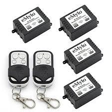 remote control on off light switch amazon com emylo dc 12v 1ch rf relay wireless remote control light