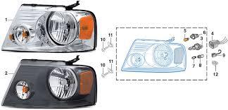 ford f150 headlight bulb combination headlight assembly 2004 08 ford f150 lmc truck
