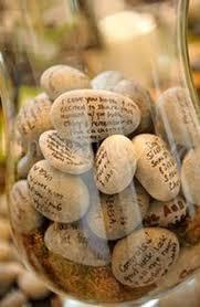 wedding wishing stones wedding guestbook wishing stones an wedding