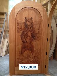 carved wooden doors summit log timber homes