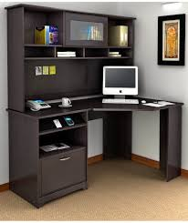 Corner Table Ideas by Furniture Dark Brown Corner Computer Desk Idea Complete With