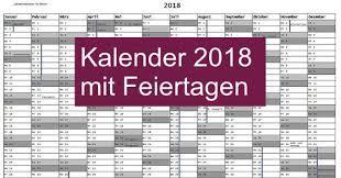 Kalender 2018 Hessen Drucken Kalender 2018 Mit Feiertagen Freeware De