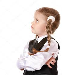 unhappy child looking up u2014 stock photo poznyakov 3933049