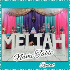 table rentals nyc name table any letter any name personalize your party rent today