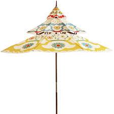 Floral Patio Umbrella Pagoda 9 Kaeden Wood Umbrella Pier 1 Imports