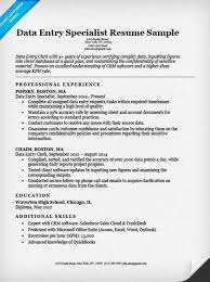 Examples Of Clerical Resumes by Data Entry Clerk Resume Sample Resume Companion
