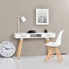 Schreibtisch Holz Mit Schubladen Schreibtische Weiss Holz Schreibtisch Sandeiche Weiss Hochglanz
