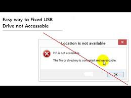 drive not accessible easy way to fix usb drive not accessible without lost data youtube