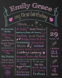 1st birthday chalkboard 1st birthday chalkboard poster template 101 birthdays