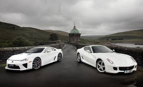 lexus supercar lfa 2011 ferrari 599 hgte vs 2012 lexus lfa u2013 comparison test car