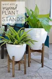 west elm inspired wooden plant stands wooden plant stands
