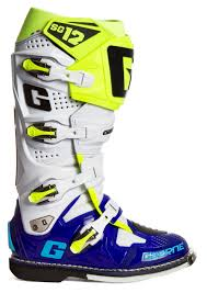 motocross boots gaerne gaerne mx boots sg 12 blue white fluo yellow 2017 maciag offroad