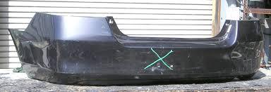 honda accord bumper cover 2006 2007 honda accord sedan 4cyl v6 single dual exhaust w