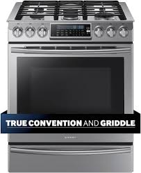 Samsung Cooktops Electric Samsung 5 8 Cu Ft Self Cleaning Slide In Gas Convection Range