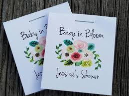 cheap seed packets sale personalized mini seeds floral bunch baby in bloom