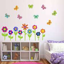 wall stickers flowers butterflies color the walls of your house wall stickers flowers butterflies flowers and butterflies wall stickers by mirrorin notonthehighstreet