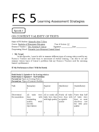 answer fs 5 rubric academic educational assessment