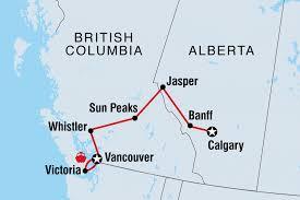 Canadian Rockies Map Canada Tours U0026 Travel Intrepid Travel Us