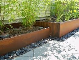 Metal Flower Bed Edging The 25 Best Metal Planter Boxes Ideas On Pinterest Steel