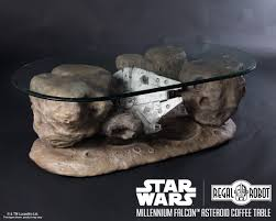 millennium falcon asteroid coffee table regal robot