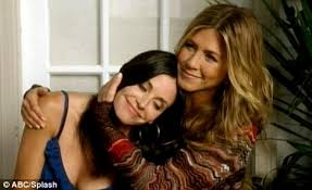 Cougar Town Memes - courteney cox and jennifer aniston appear together in cougar town