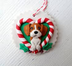 beagle christmas ornie by raquel at the wrc hand sculpted polymer