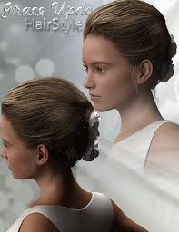 grace updo hairstyle for genesis 3 female 3d models and 3d