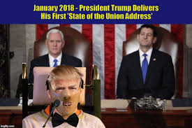 State Of The Union Meme - january 2018 president trump delivers his first state of the