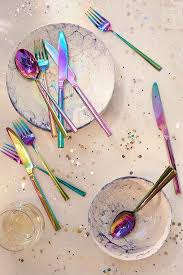 Urban Outfitters Kitchen - 12 piece electroplated flatware set flatware urban outfitters