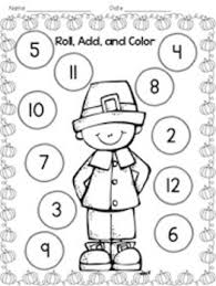 thanksgiving roll add color by kindergarten lifestyle tpt