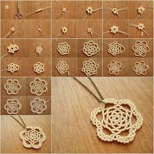 diy necklace pendant images Beaded rose necklace pendant jpg