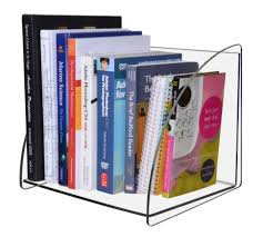 furniture home clear acrylic book display shelves for stand