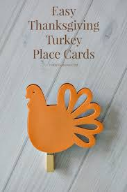 easy thanksgiving turkey place cards thanksgiving