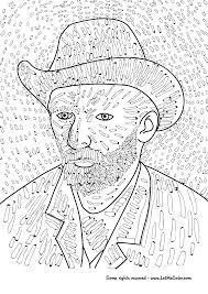 vincent van gogh self portrait coloring page png
