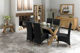 Glass Dining Table Chairs Oak And Glass Dining Table And Chairs Valencia Oak Glass Dining