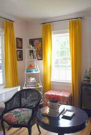 rugs u0026 curtains appealing yellow curtain panels for white living