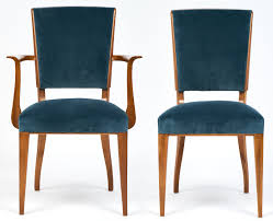 velvet dining room chairs french art deco cherrywood dining chairs set jean marc fray