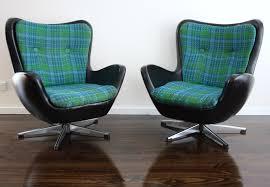 mid century namco swivel egg chair armchair retro vintage 360