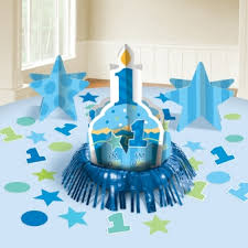 1st birthday for boys birthday boy table decorating kit