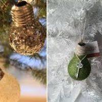 Christmas Decorations Using Light Bulbs by Christmas Holiday Crafts Ornaments Made Light Bulbs Wordblab Co