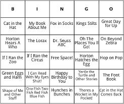 dr seuss books bingo by bingo card template